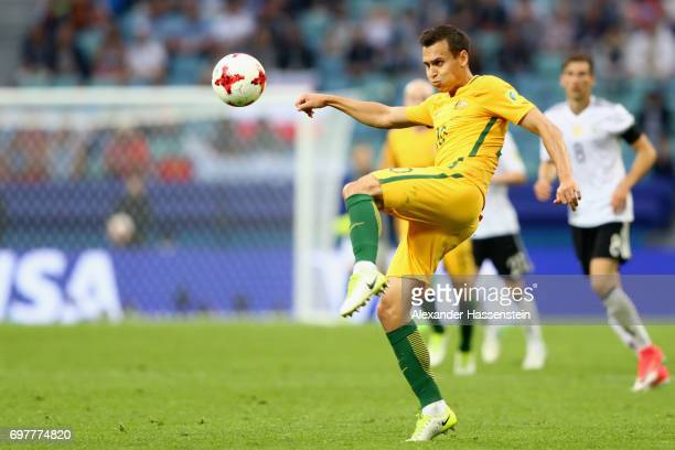 Trent Sainsbury of Australia runs with the ball during the FIFA Confederations Cup Russia 2017 Group B match between Australia and Germany at Fisht...
