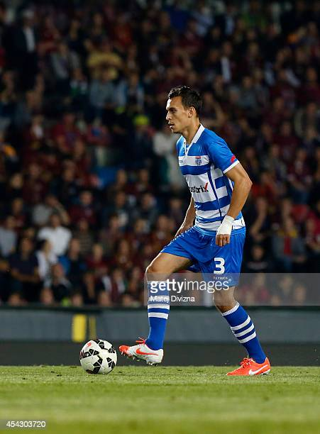 Trent Sainsbury of PEC Zwolle in action during the UEFA Europa League Qualifying PlayOffs Round second leg match between Sparta Prague and PEC Zwolle...