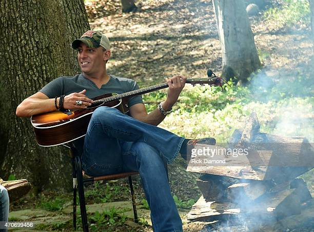 Trent Tomlinson attends Country Rock Group Love And Theft Cabin Fever Writing Sessions on April 21 2015 in Dover Tennessee