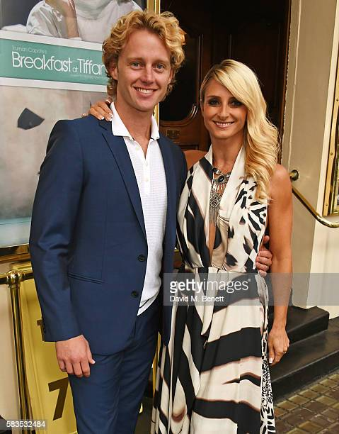 Trent Whiddon and Gordana Grandosek arrive at the press night performance of 'Breakfast at Tiffany's' at the Theatre Royal Haymarket on July 26 2016...