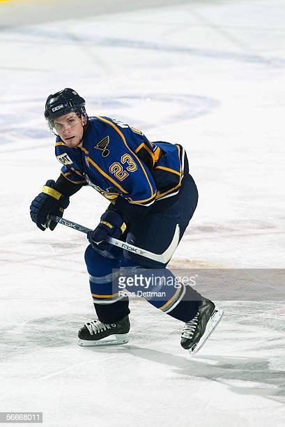 Trent Whitfield of the Peoria Rivermen skates against the Chicago Wolves at Allstate Arena on December 11 2005 in Rosemont Illinois The Wolves won 41