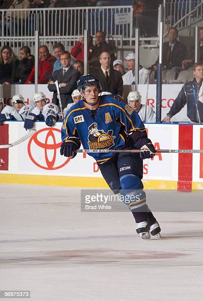 Trent Whitfield of the Peoria Rivermen skates against the Toronto Marlies at Ricoh Coliseum on February 3 2006 in Toronto Ontario Canada The Rivermen...