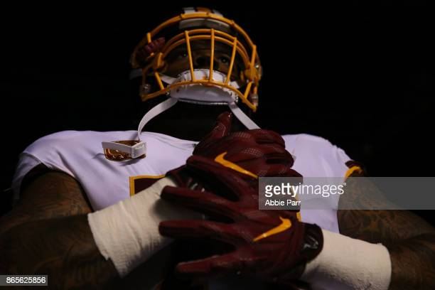 Trent Williams of the Washington Redskins enters the field to take on the Philadelphia Eagles during their game at Lincoln Financial Field on October...