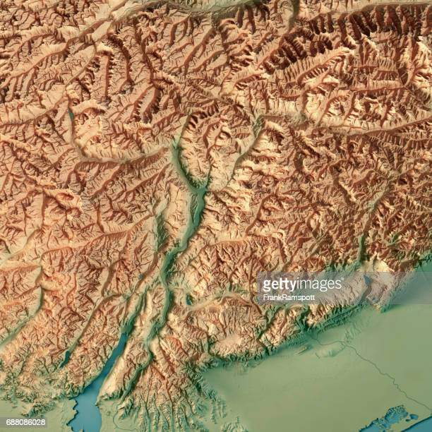 trentino alto adige regione autonoma italy 3d render topographic map - frank ramspott stock pictures, royalty-free photos & images