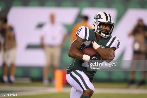 Trenton Cannon of the New York Jets in action during the preseason National Football League game between the New York Jets and the Atlanta Falcons on...
