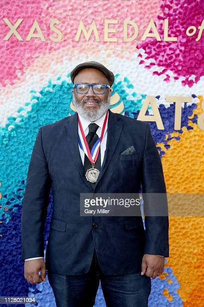 Trenton Doyle Hancock attends the Texas Medal Of Arts Awards at the Long Center for the Performing Arts on February 27 2019 in Austin Texas