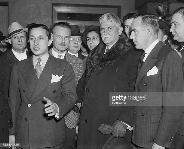 Condon Group Jafsie And The Prosecution J F Condon Jafsie of the Lindbergh Baby kidnaping case is shown with members of the Prosecution shortly after...