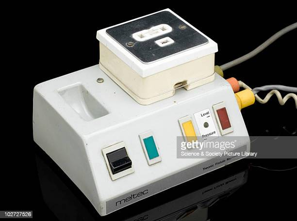 Treonic Fistula Monitor, c.1970. Treonic Fistula Monitor for patients undergoing renal dialysis, with infra-red and pressure detectors to detect air...