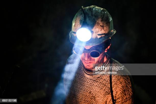 A Trepca miner works at the Trepca mine in the village of Stanterg near Mitrovica on May 5 2017 Mostly located in the ethnicallydivided northern...