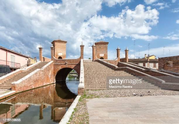 trepponti bridge, comacchio, italy - ferrara stock pictures, royalty-free photos & images