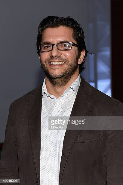 TreSensa Rob Grossberg pose at the Gaming the Market panel during Advertising Week 2015 AWXII at the ADARA Stage at Times Center Hall on September 28...
