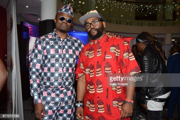 Tresor and Sjava during the 23rd annual South African Music Awards Nominees Announcement at the Destiny Exclusive Hotels on April 20 2017 in Kempton...