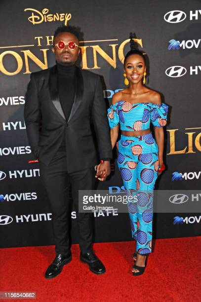 Tresor Patner during the official South African Premiere of Disney's The Lion King at the Johannesburg Country Club on July 18 2019 in Johannesburg...