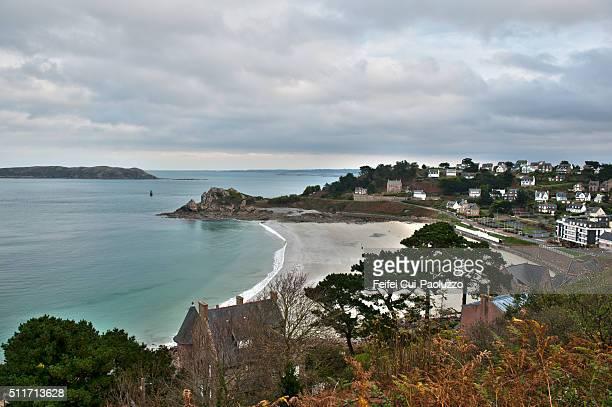 Trestraou Beach of Perros-Guirec Côtes-d'Armor department of France
