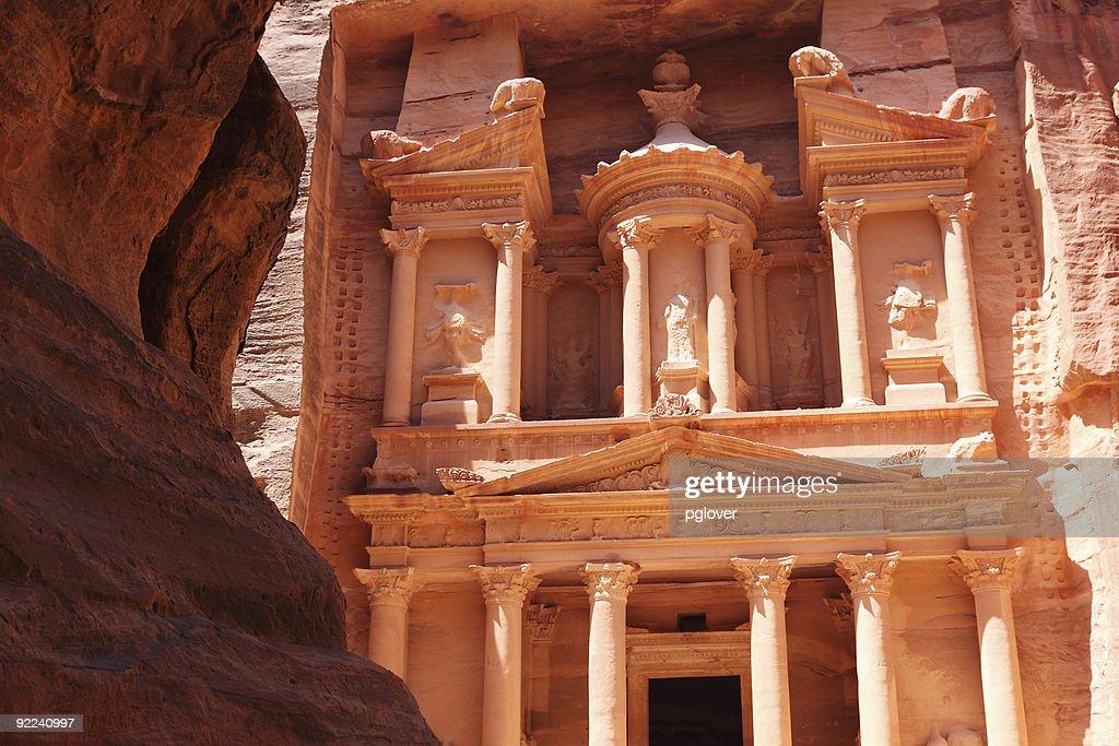 Tresury building in Petra Jordan : Stock Photo