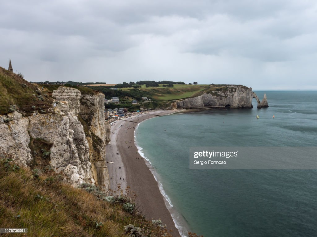 Etretat Falaise Daval And The Aiguille Normandie France High Res