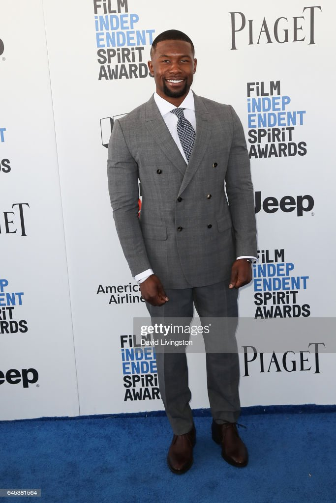Trevante Rhodes attends the 2017 Film Independent Spirit Awards on February 25, 2017 in Santa Monica, California.