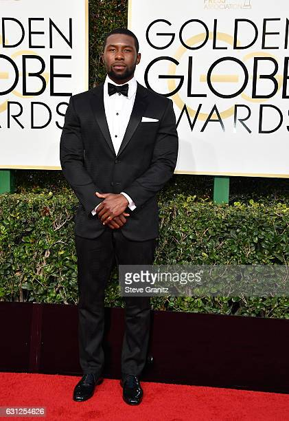 Trevante Rhodes attends the 74th Annual Golden Globe Awards at The Beverly Hilton Hotel on January 8 2017 in Beverly Hills California