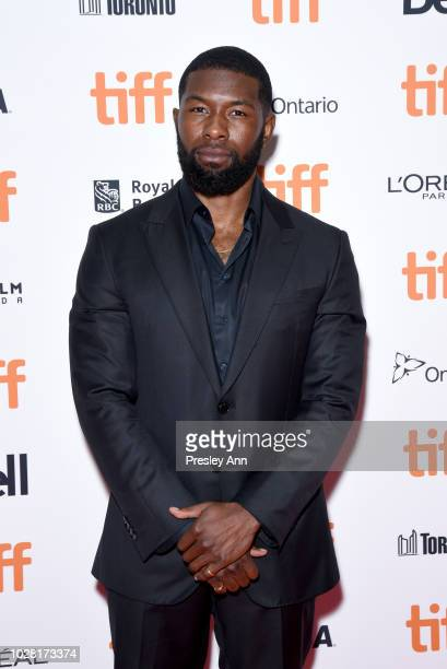 Trevante Rhodes attends the The Predator premiere during the 2018 Toronto International Film Festival at Ryerson Theatre on September 6 2018 in...