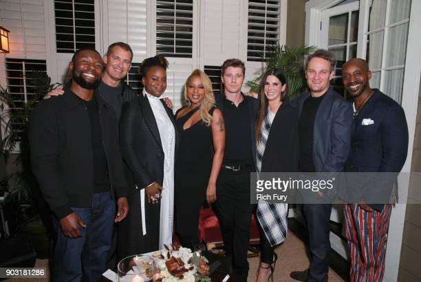 Trevante Rhodes Head of Original Films at Netflix Scott Stuber Dee Rees Mary J Blige Garrett Hedlund Sandra Bullock Jason Clarke and Rob Morgan...