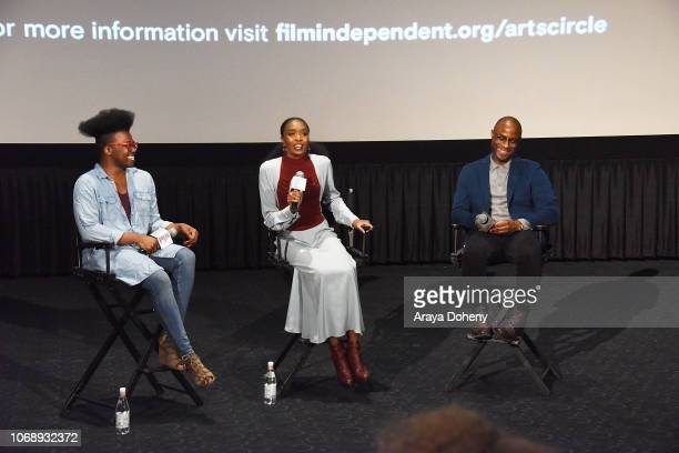Tre'vell Anderson KiKi Layne and Barry Jenkins attend the Film Independent Special Screening of 'If Beale Street Could Talk' at ArcLight Hollywood on...