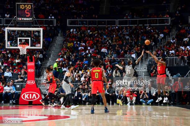 Treveon Graham of the Atlanta Hawks shoots the ball against the Brooklyn Nets on February 28 2020 at State Farm Arena in Atlanta Georgia NOTE TO USER...