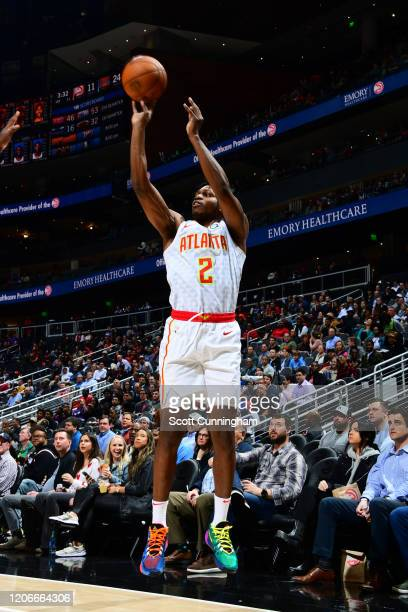 Treveon Graham of the Atlanta Hawks shoots the ball against the New York Knicks on March 11 2020 at State Farm Arena in Atlanta Georgia NOTE TO USER...