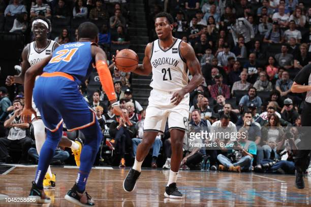 Treveon Graham of the Brooklyn Nets against the New York Knicks during a preseason game on October 3 2018 at Barclays Center in Brooklyn New York...