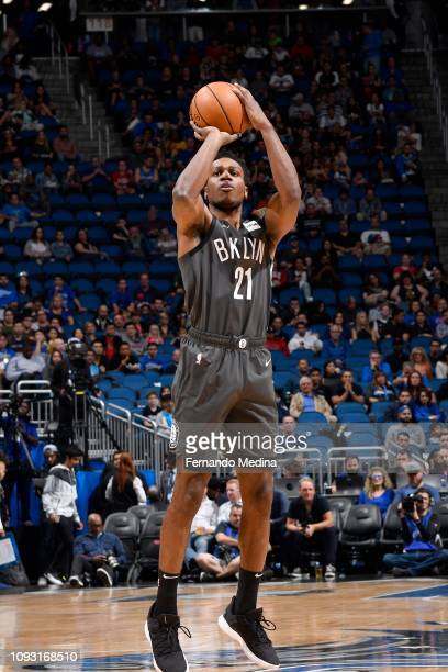 Treveon Graham of the Brooklyn Nets shoots the ball during the game against the Orlando Magic on February 2 2019 at Amway Center in Orlando Florida...