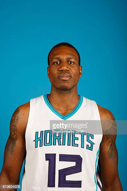 Treveon Graham of the Charlotte Hornets poses for a head shot during the 20162017 Charlotte Hornets Media Day at the Time Warner Cable Arena on...