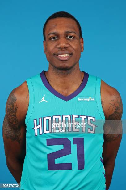 Treveon Graham of the Charlotte Hornets poses for a head shot in Charlotte North Carolina at the Spectrum Center on January 16 2018 NOTE TO USER User...