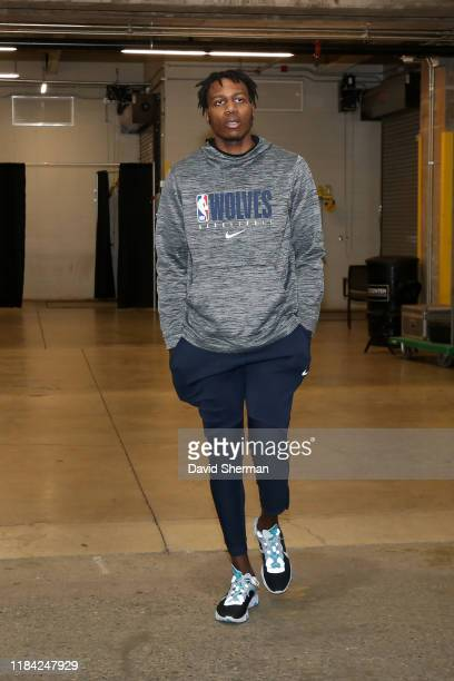 Treveon Graham of the Minnesota Timberwolves arrives to the game against the Phoenix Suns on November 23 2019 at Target Center in Minneapolis...