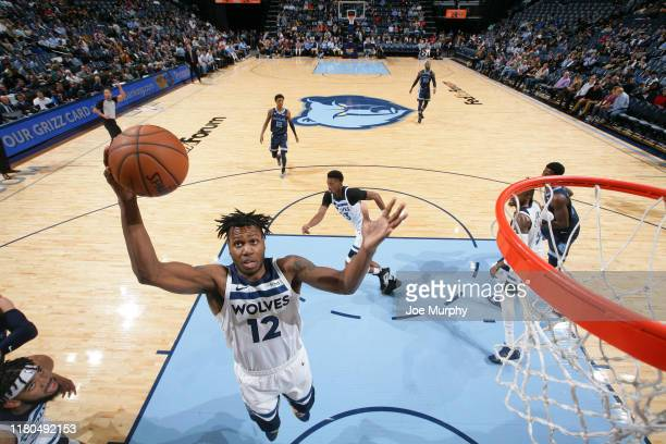 Treveon Graham of the Minnesota Timberwolves grabs the rebound against the Memphis Grizzlies on November 6 2019 at FedExForum in Memphis Tennessee...
