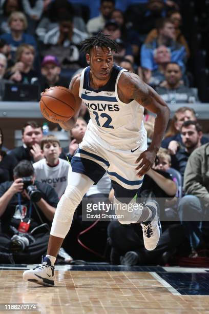 Treveon Graham of the Minnesota Timberwolves handles the ball against the Memphis Grizzlies on December 1 2019 at Target Center in Minneapolis...