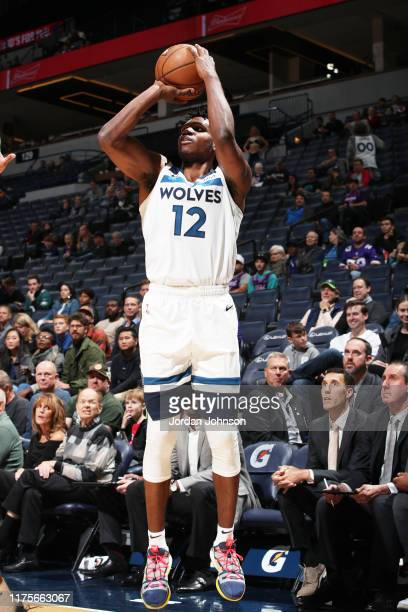 Treveon Graham of the Minnesota Timberwolves shoots the ball against Maccabi Haifa during a preseason game on October 13 2019 at Target Center in...
