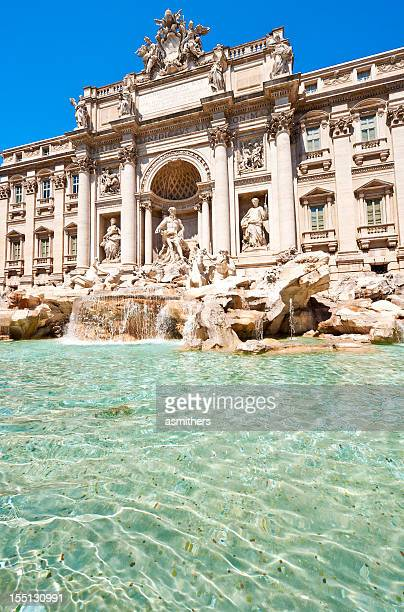 trevi fountain in rome, italy - trevi fountain stock photos and pictures