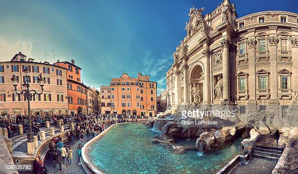 trevi fountain - rom italien stock-fotos und bilder