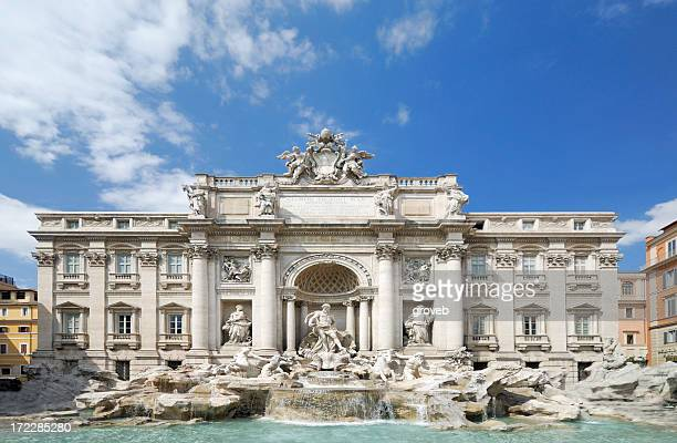trevi fountain, rome, italy - trevi fountain stock photos and pictures