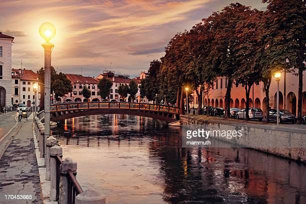 treviso at dusk, italy - treviso italy stock pictures, royalty-free photos & images
