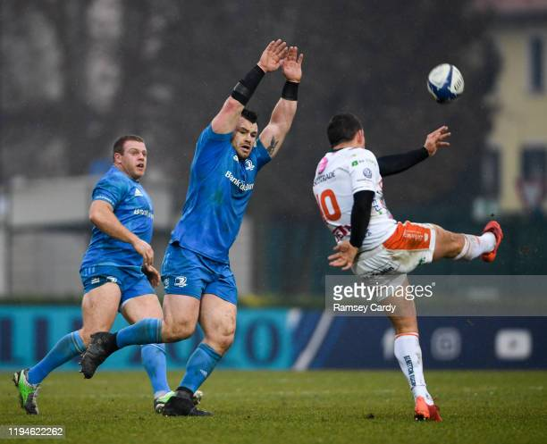 Treviso Italy 18 January 2020 Cian Healy of Leinster in action against Ian Keatley of Benetton during the Heineken Champions Cup Pool 1 Round 6 match...