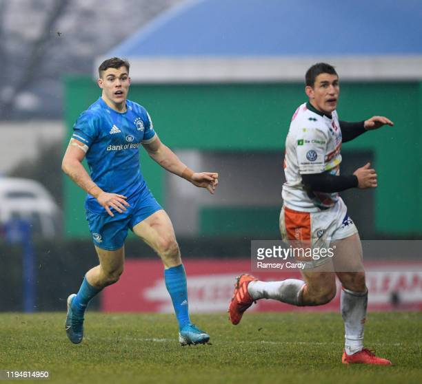 Treviso Italy 18 January 2020 Garry Ringrose of Leinster and Ian Keatley of Benetton during the Heineken Champions Cup Pool 1 Round 6 match between...