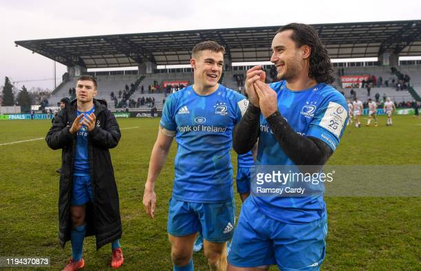 Treviso Italy 18 January 2020 James Lowe right and Garry Ringrose of Leinster following the Heineken Champions Cup Pool 1 Round 6 match between...