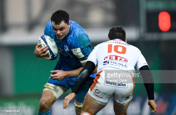 Treviso Italy 18 January 2020 James Ryan of Leinster in action against Ian Keatley of Benetton during the Heineken Champions Cup Pool 1 Round 6 match...