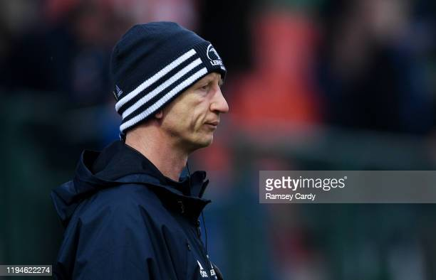 Treviso Italy 18 January 2020 Leinster head coach Leo Cullen ahead of the Heineken Champions Cup Pool 1 Round 6 match between Benetton and Leinster...