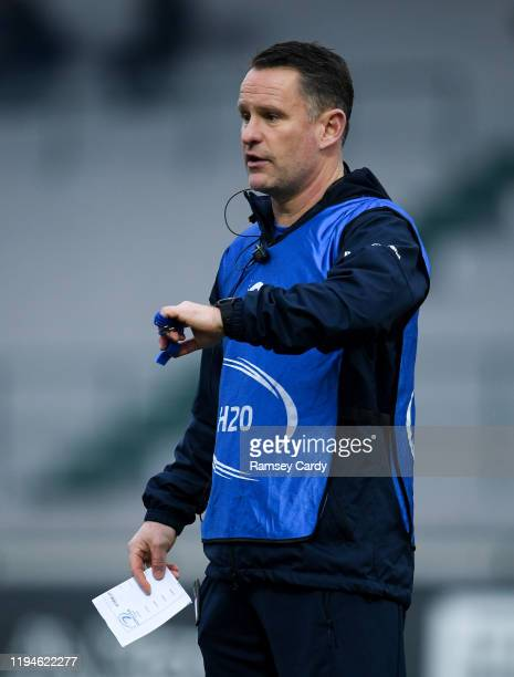 Treviso Italy 18 January 2020 Leinster Head of athletic performance Charlie Higgins ahead of the Heineken Champions Cup Pool 1 Round 6 match between...
