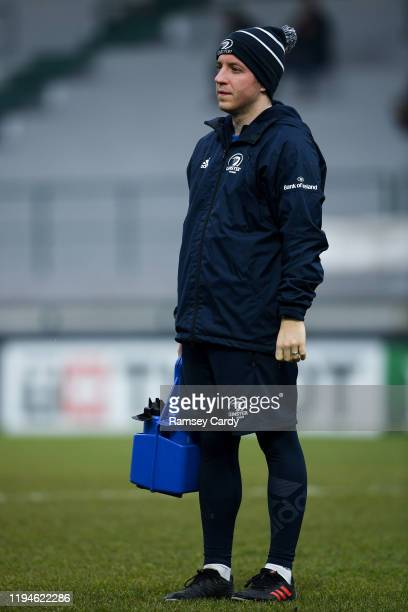 Treviso Italy 18 January 2020 Leinster lead academy athletic performance coach Joe McGinley ahead of the Heineken Champions Cup Pool 1 Round 6 match...