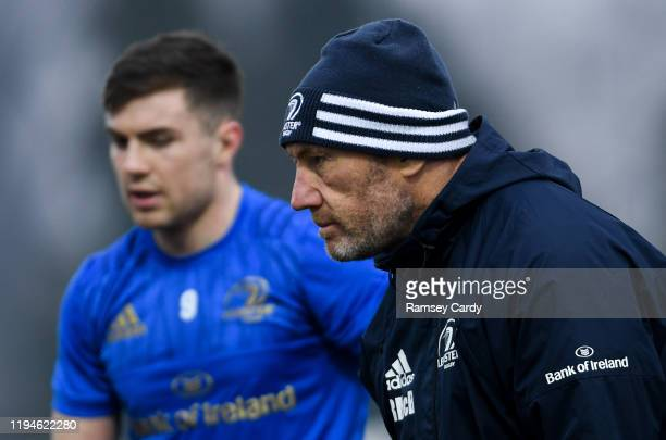 Treviso Italy 18 January 2020 Leinster scrum coach Robin McBryde ahead of the Heineken Champions Cup Pool 1 Round 6 match between Benetton and...