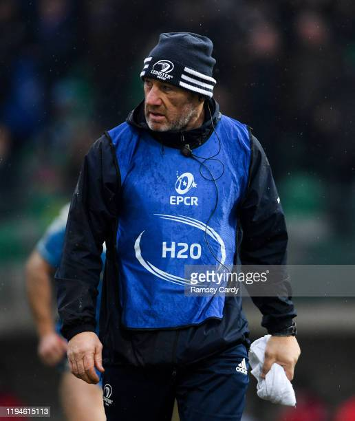 Treviso Italy 18 January 2020 Leinster scrum coach Robin McBryde during the Heineken Champions Cup Pool 1 Round 6 match between Benetton and Leinster...