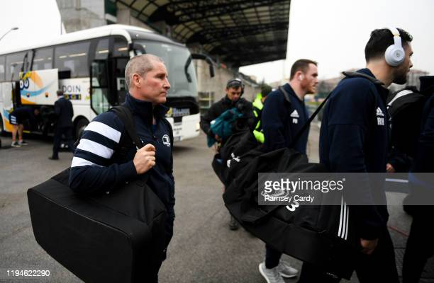 Treviso Italy 18 January 2020 Leinster senior coach Stuart Lancaster ahead of the Heineken Champions Cup Pool 1 Round 6 match between Benetton and...