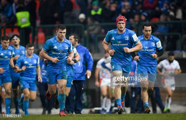 Treviso Italy 18 January 2020 Luke McGrath and Josh van der Flier of Leinster during the Heineken Champions Cup Pool 1 Round 6 match between Benetton...